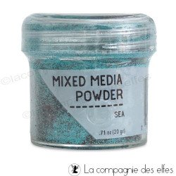 Mixed media embossing powder sea