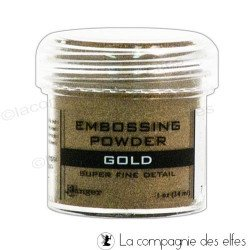 Gold embossing powder | poudre embosser or doré fine