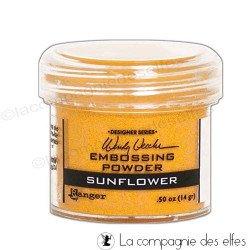 Poudre embossage jaune Ranger sunflower