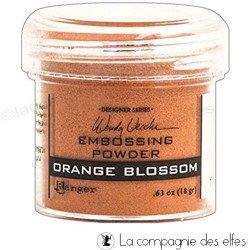 Poudre embossage orange blossom Ranger