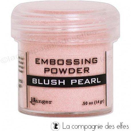 Poudre embossage blush pearl Ranger
