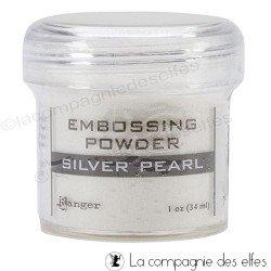 Poudre embossage à chaud Silver Pearl