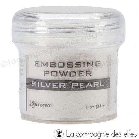 Poudre embossage silver pearl Ranger