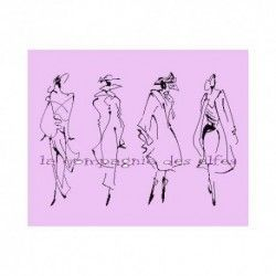 silhouettes de mode tampon nm