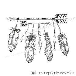 Tampon flèches et plumes bohème