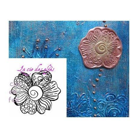 Tampon empreinte fleur | timbre fleur