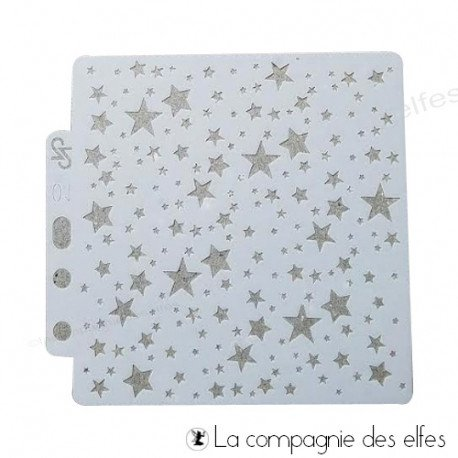 achat pochoir mini étoiles | stars stencil