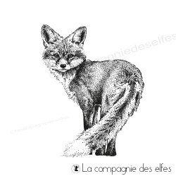fox rubber stamp | achat tampon renard de la forêt