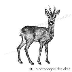 deer rubber stamp | achat tampon chevreuil de la forêt