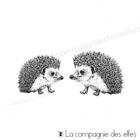 Hedgehog rubber stamp | achat timbre hérissons