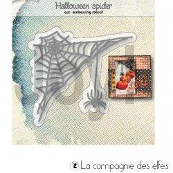 Dies Halloween toile spider
