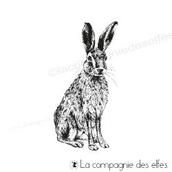 Rabbit rubber stamp | achat timbre lièvre
