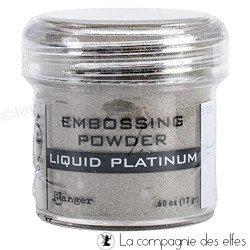 Poudre à embosser Liquid Platinium Ranger