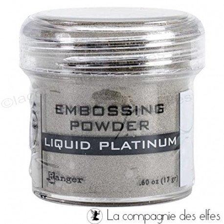 Platinium powder | poudre embosser platinium