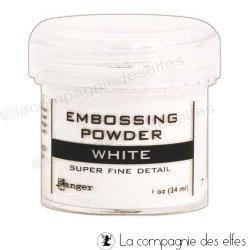 Poudre à embosser white Ranger
