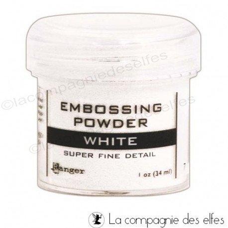 18 Janvier 2021 sketch carte ou page programmé  Poudre-a-embosser-white-ranger