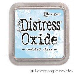 Distress pad tumbled glass oxide
