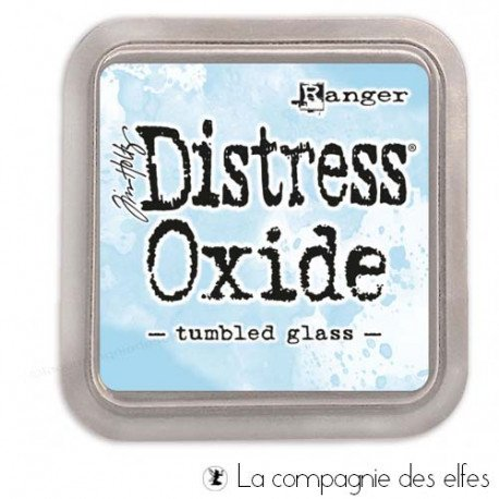 Distress tumbled glass oxide