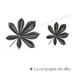Achat tampon feuilles de marroniers