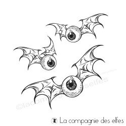 Achat tampons oeil chauve souris Halloween