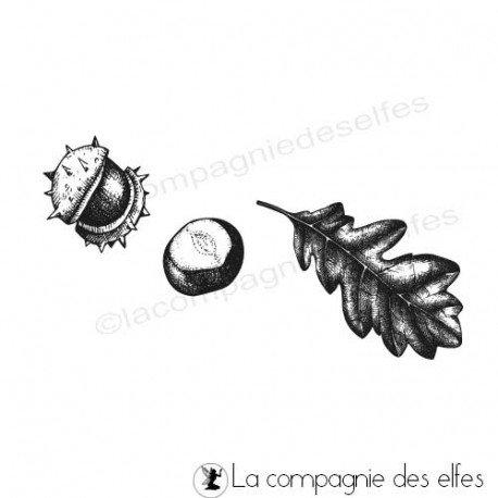 11 octobre pochette par rachel programmé 11 et 12 octobre Tampon-encreur-coque-de-marronnier-et-feuille-chene