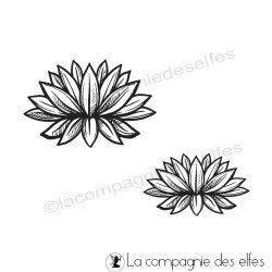 Tampon encreur fleur de lotus