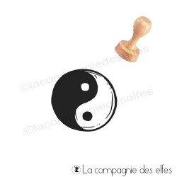 Yin yang stamp tampon