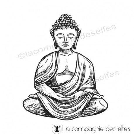 Achat tampon zen bouddha | buddha rubberstamp