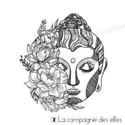 Tampon tête Bouddha zen