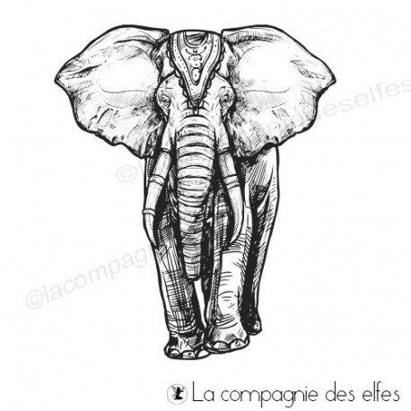 Achat tampon éléphant asie