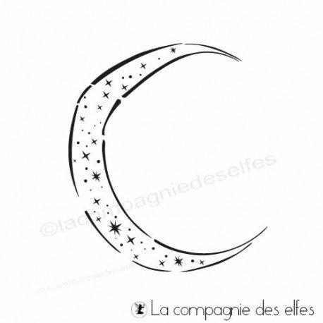 18 Janvier 2021 sketch carte ou page programmé  Tampon-encreur-lune