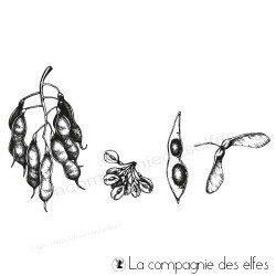 Tampon encreur feuilles et cosses
