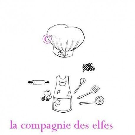 Tampon encreur cuisine | timbre cuisine | tampon scrap cuisine
