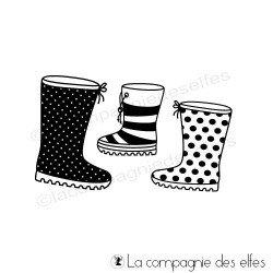 Tampon bottes pluie hiver