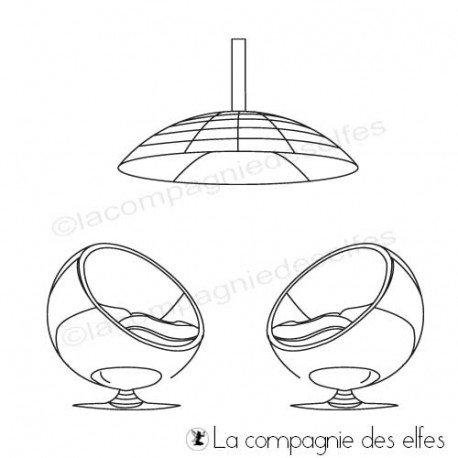 Tampon encreur siège lampe moderne