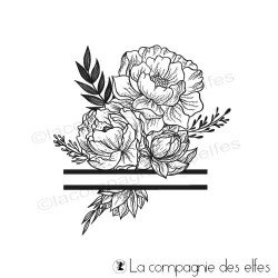 Tampon bouquet floral zen