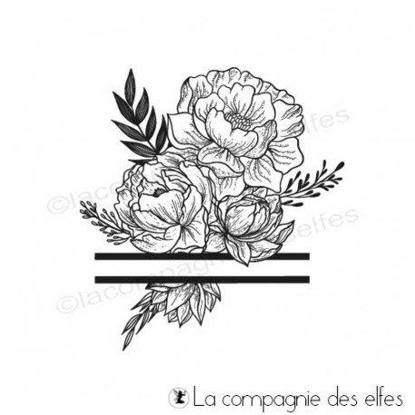 Achat tampon bouquet floral zen