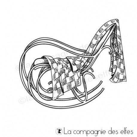 Tampon encreur rocking chair plaid