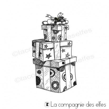 Achat tampon paquet cadeaux