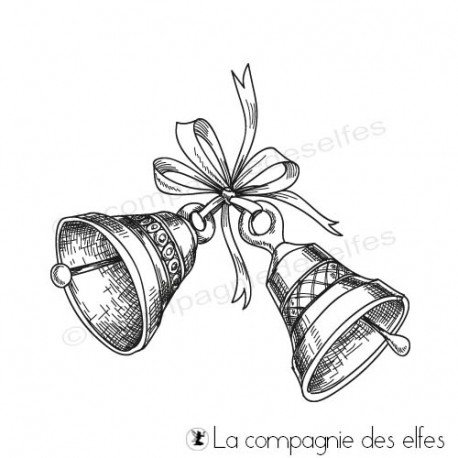 Achat tampon cloches scrapbooking