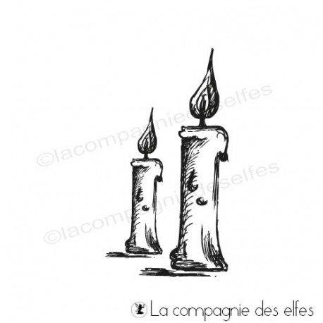 Cartes fin d'année 3/3 programmé 26/11 Tampon-duo-de-bougies-hautes