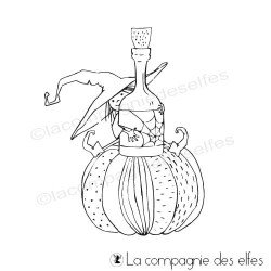 Achat tampon sorcière Halloween | tampon scrap Halloween