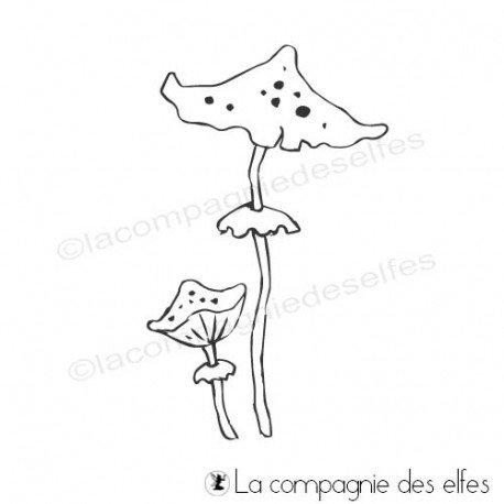 Achat tampon champignons Halloween | tampon scrap Halloween