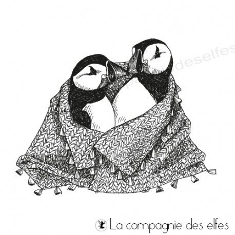 Tampon encreur les macareux pingouins