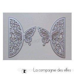 Dies double papillon dentelle