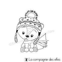 Tampon renard bonnet hiver