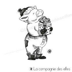 Tampon le cochon d'hiver
