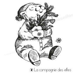 Tampon l'ours d'hiver