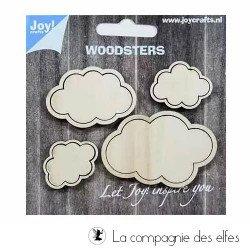 Acheter nuages scrapbooking bois