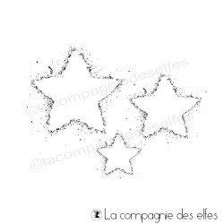 Tampon encreur poussière d'étoiles